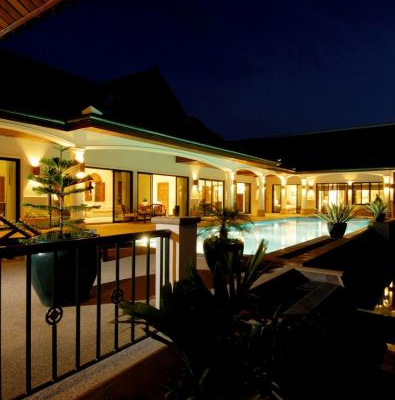 Villa1 - Pool At Night