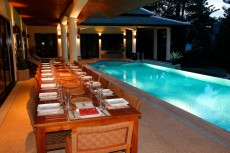 Villa 1 - Poolside Dining