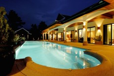 Villa 1 - Pool At Night